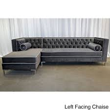 Overstock Sectional Sofas Excellent Decenni Custom Furniture 8 Foot Tobias Sectional Sofa