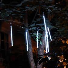 lumabase 144ct meteor rainfall white icicle lights 8 target