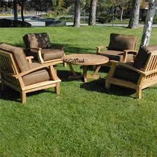 Teak Wood Patio Furniture Outdoor Round Coffee Table Orlando