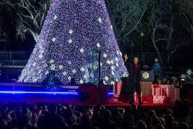 national christmas tree lighting 2016 national christmas tree lighting trump vs obama crowd photos heavy com