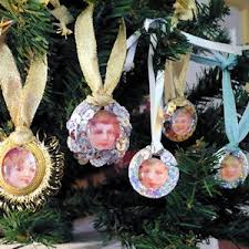 photo ornaments tag ornaments craft these glittering miniature ornaments with