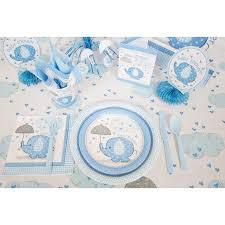 Blue Baby Shower Decorations Blue Elephants Baby Shower Supplies Walmart Com