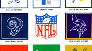 Nfl Curtains Classic Nfl Logos From 1964 Grayflannelsuit Net