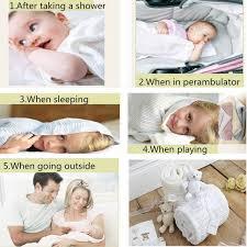 100x75cm cotton baby infant kids soft cellular blanket basket crib