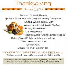 bon chef cafe vegas thanksgiving meal to go