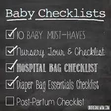 Bathroom Necessities Checklist Baby Checklists Postpartum Checklist Unoriginal Mom