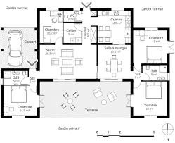 plan maison contemporaine plain pied 3 chambres plan de maison plain pied 3 chambres avec garage