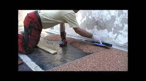 Steinteppich Bad Steinteppich Steinchenboden Kieselbeschichtung Verlegeanleitung