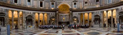 interior of the pantheon rome italy travelling with dan