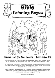 My Little House Bible Coloring Pages The Two Houses Sprout Coloring Pages
