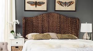 nadine brown winged headboard headboards furniture by safavieh