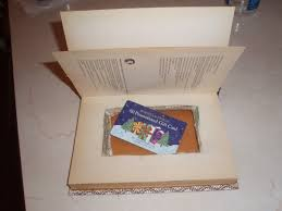 gift card book a book gift card holder thriftyfun