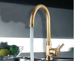plomberie evier cuisine luxe élégant antique gold bronze robinet cuisine salle de bain évier