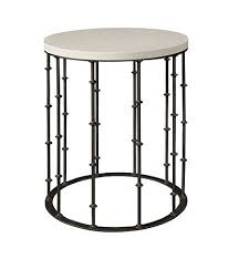 Iron Side Table Amalfi Limestone And Wrought Iron Side Table Mecox Gardens
