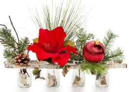 christmas floral arrangements rustic christmas flower arrangement craft ideas