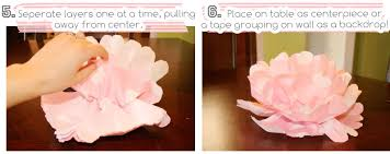 centerpiece wall tissue paper flowers tutorial at home with natalie