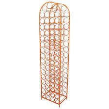 arthur umanoff style iron wine rack in orange powder coat at 1stdibs
