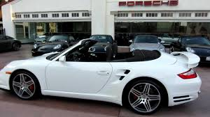 white porsche 911 convertible 2008 porsche 911 turbo cabriolet white cocoa 6 speed