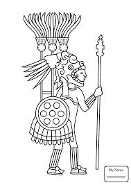 arts culture aztec jaguar warrior coloring pages coloring7