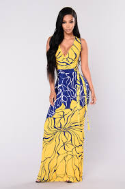 yellow dress maxi dress yellow blue