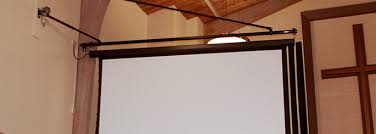 How To Hang A Projector Screen From A Drop Ceiling by Lifts And Mounts Draper Inc