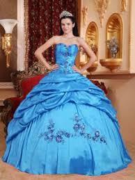 aqua puffy new quinceanera dresses