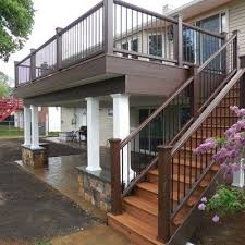 Wood Patio Deck Designs Best 25 Second Story Deck Ideas On Pinterest Walkout Basement