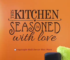 kitchen seasoned with love wall art decal stickers quote kitchen seasoned with love wall art decal stickers quote loading zoom