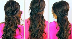prom half up half down hairstyle popular long hairstyle idea