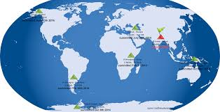 Seven Continents Map The 7 Summits Mathieu Durand