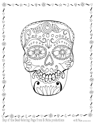 bnute productions free printable day of the dead skull coloring page