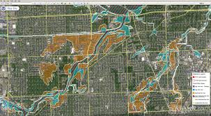 Flood Plain Map Flood Zone Google Earth Layers Red Run