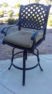 bar stools for outdoor patios pretty swivel bar stools outdoor assembly thedigitalhandshake