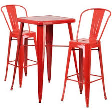 red pub table and chairs modern red bar tables sets allmodern