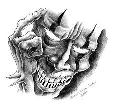 evil clown mask tattoo design tattoobite com b lamb