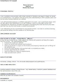 Hobbies And Interests On A Resume Examples by Dental Nurse Cv Example Icover Org Uk