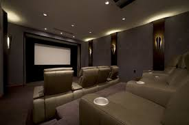 home theater walls some wall light home theater ideas basement dark brown curved