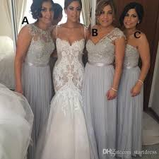 amsale bridesmaid new 3 style grey chiffon bridesmaid dresses amsale bridesmaid