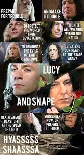 Snape Meme - lucius and snape kill the hydra