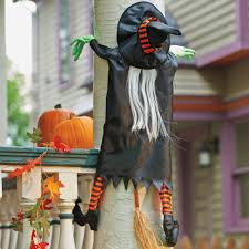 crashing witch halloween decoration witches and decoration