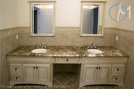2 Sink Vanity Emperador Light Is The Selected For This 2 Sink Vanity The