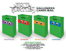 ideas for halloween candy bags teenage mutant ninja turtles halloween stencils candy bag and
