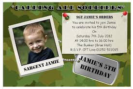 army birthday invitations 10 personalised army soldier party photo invitations n63 amazon