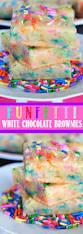 these funfetti white chocolate brownies taste like funfetti cake