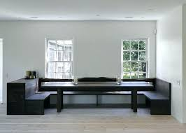 built in dining table dining table with bench benches with backs dining room contemporary