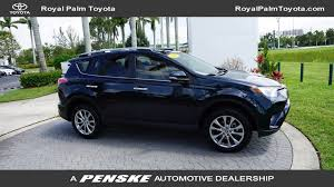 toyota com 2017 used toyota rav4 limited fwd at royal palm toyota serving