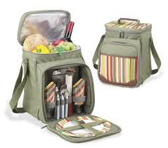 santa barbara picnic basket cooler for two 9 3 4