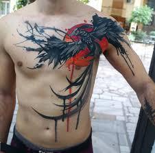 phoenix reborn mens chest piece best tattoo design ideas