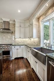 Kitchen White Cabinets Black Countertops - kitchen white cabinets dark wood floors video and photos
