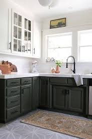 green lower white kitchen cabinets one room challenge week 6 the reveal oleander